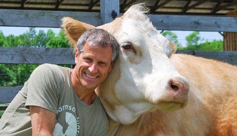 Gene Baure at Farm Sanctuary